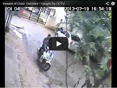 Beware of Chain Satchers - Caught By CCTV
