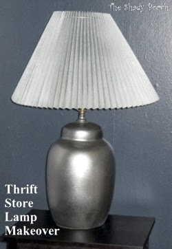 Thrift Lamp Makeover #DIY #Paint #beforeandafter #thrift #makeover #lamp