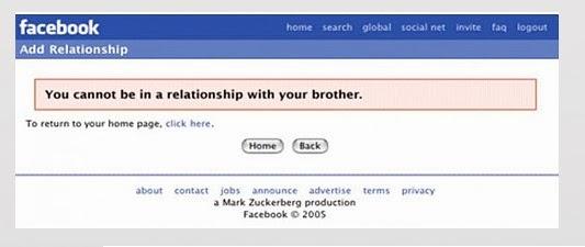 Facebook 'no puedes tener una relación con tu hermano'