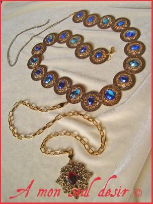 Ceinture médiévale renaissance de la Dame à la Licorne Moyen Age Bijoux médiévaux renaissance / medieval renaissance jewelled belt Lady and the Unicorn french tapestry jewels jewellery