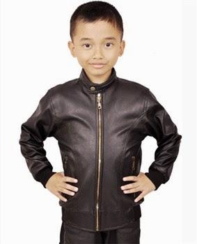 jaket anak kulit sintetis