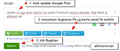 Auto-update FB dari Google plus