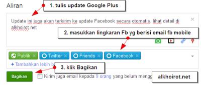 Auto-update FB dari Google plus