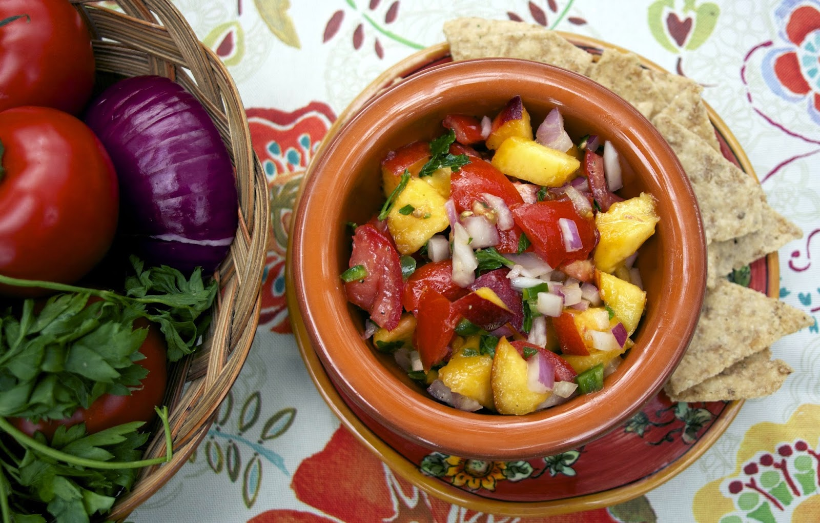 Summer Peach Salsa #It's All Greek to Me #Food of the World #Weekly ...