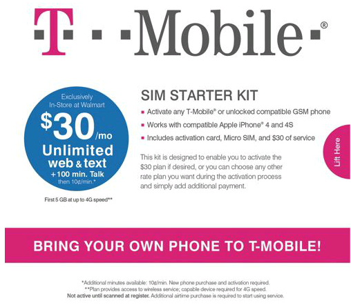 T-Mobile SIM Starter Kit