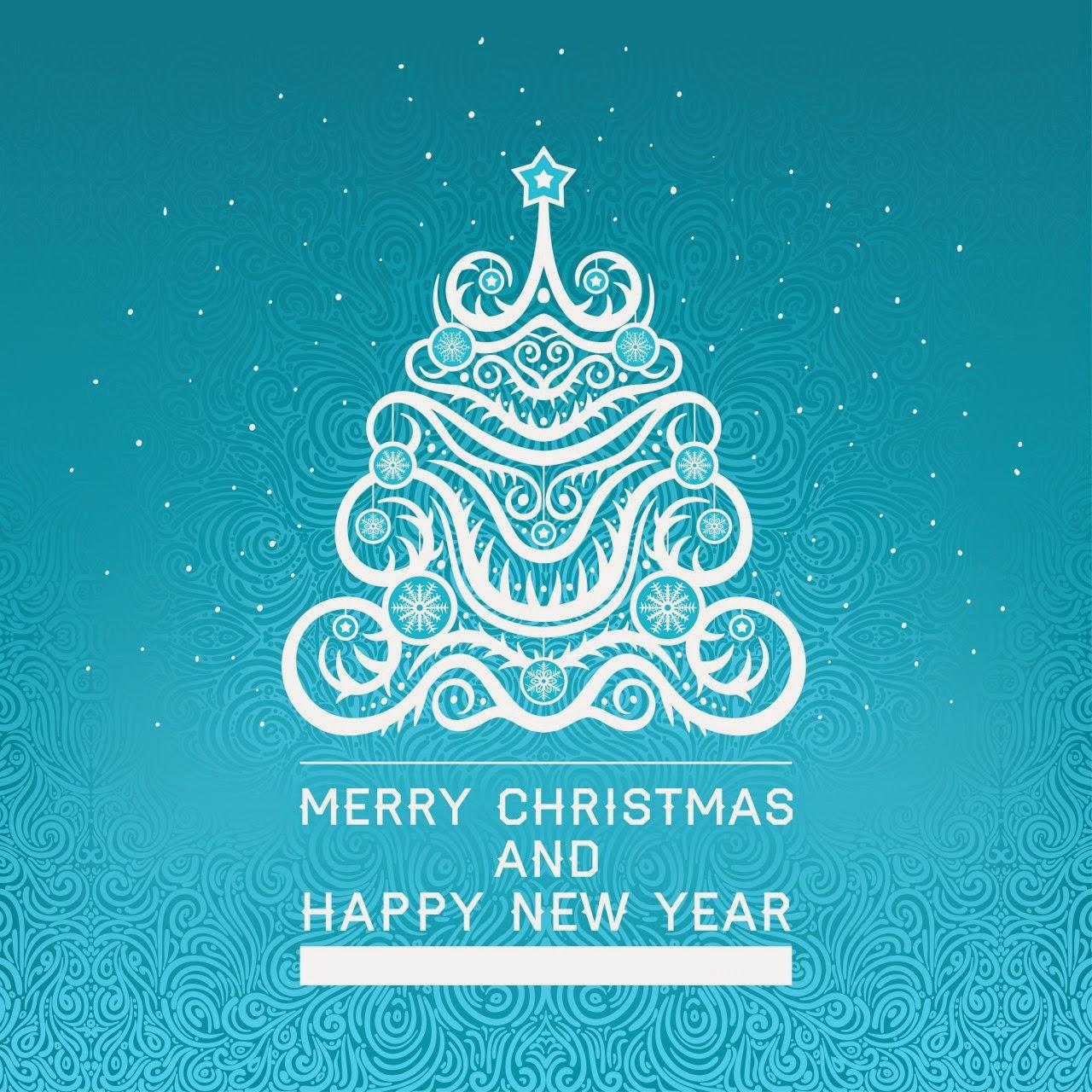 happy christmas vector free download