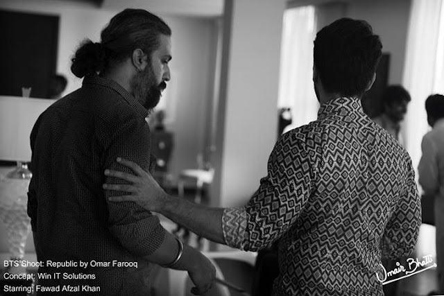 Fawad Khan Photoshoot BTS by Abdullah Haris for Republic of Omar Farooq