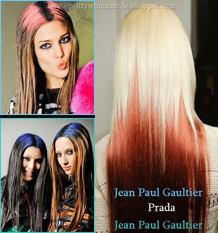 коса в контрастни цветове есен-зима 2013