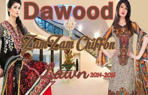 Dawood Zamzam Lawn 2014