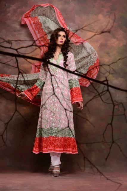Aroshi Embroidered classic spring lawn Collection 2013 for ladies