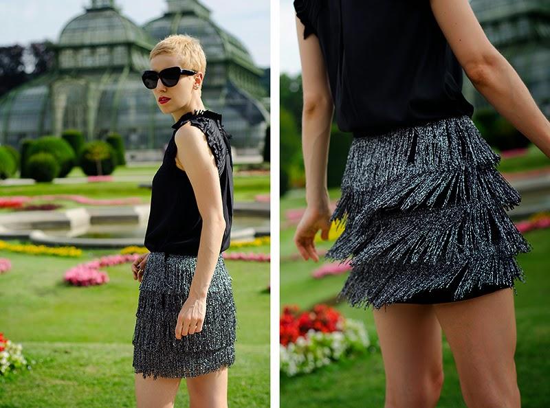 fringe skirt h&m trend beeswonderland