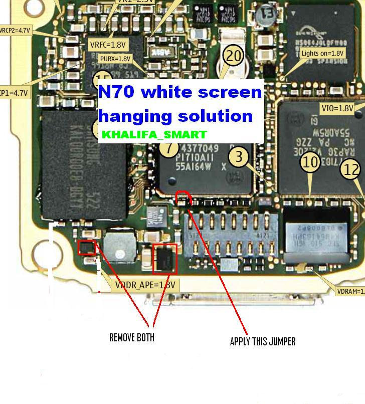 N70 White Screen and Restart Solution With Jumper