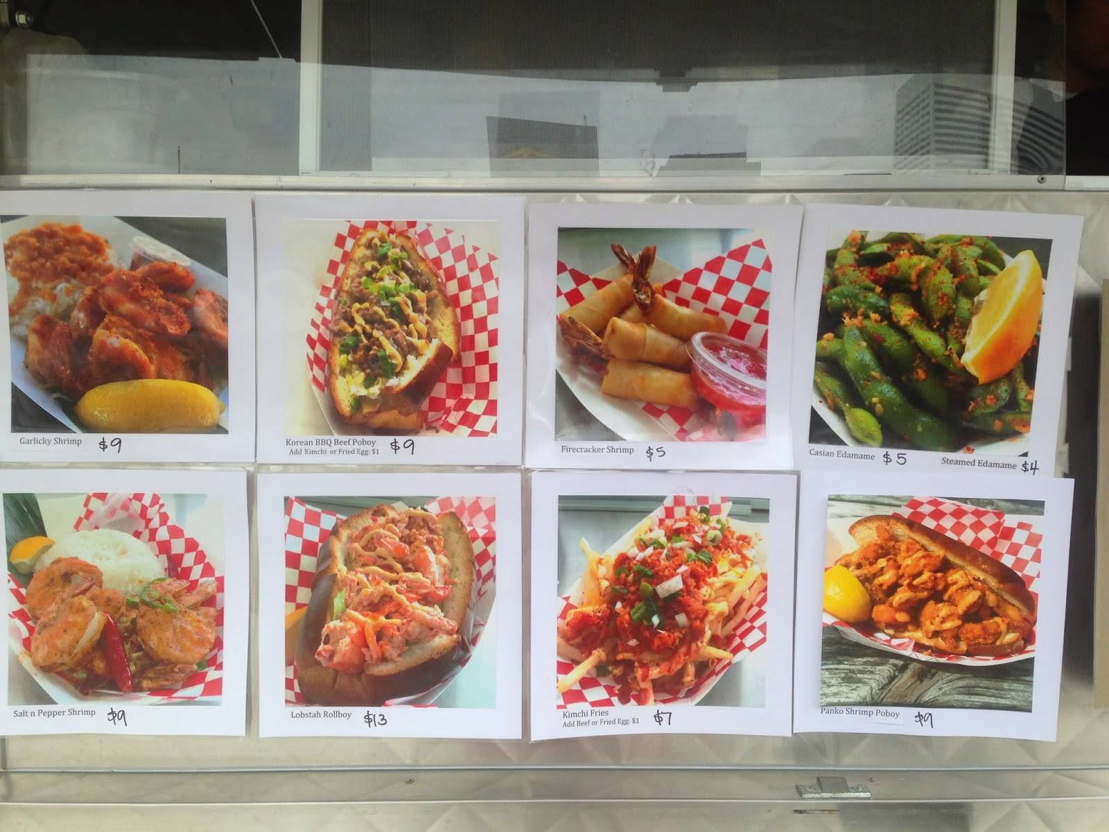 Casian King Food Truck, Houston Texas Menu