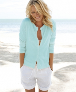 Button-Up Cashmere Cardigan