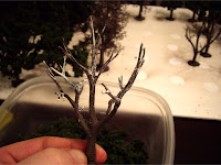 Tree armature covered with Hob-e-Tac adhesive