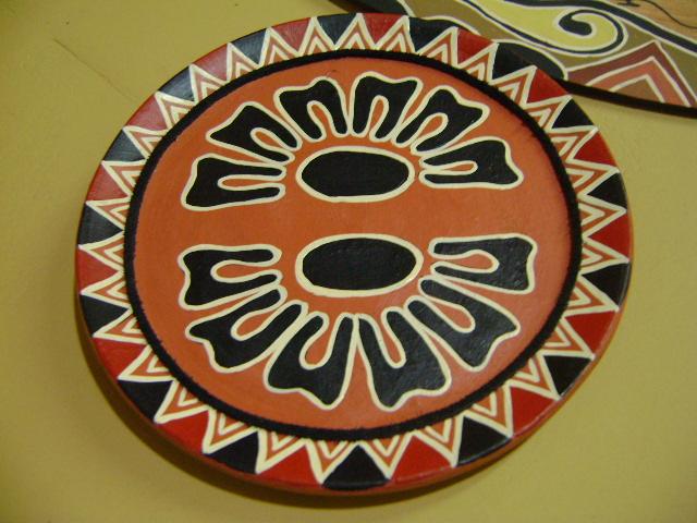 Artesanato Folclorico Da Região Sul ~ Beth Arte Indigena Pratos Ceramicas pintados mao