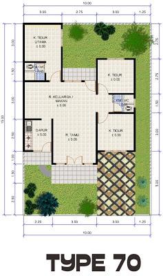 gambar desain dan denah rumah type 70 150 desain denah