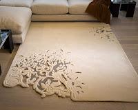 ilginç halı,modern halı modeli deseni,kabarık delikli halı