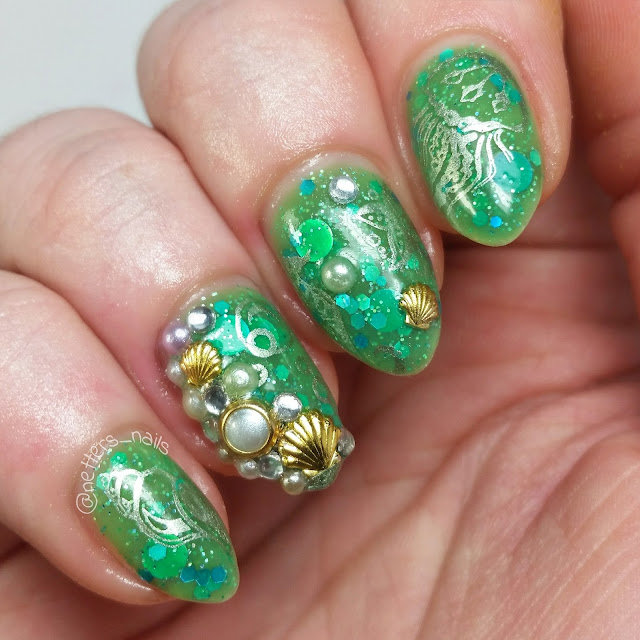 Polish me silly Mermaid Tears nail art