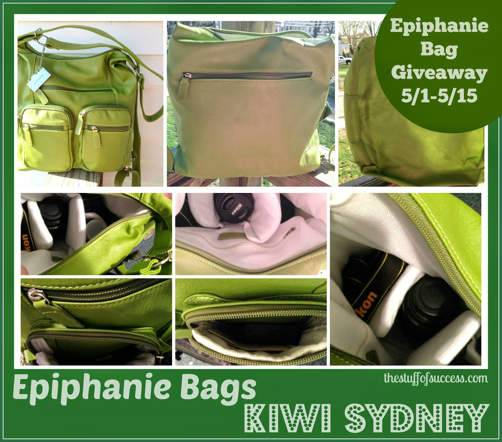 Enter the Epiphanie Bags Winner's Choice Giveaway. Ends 5/14