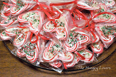 Candy Cane Lollipops