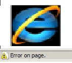 How to fix Error on page in Internet Explorer