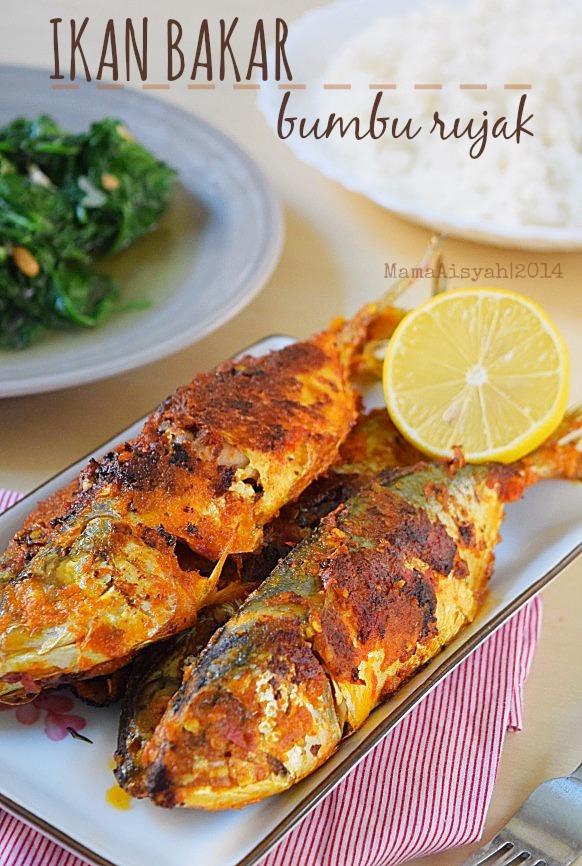 Ikan Bakar / Panggang Pedas dengan Teflon (Pan-Grilled Fish with Chili Coconut Sauce)