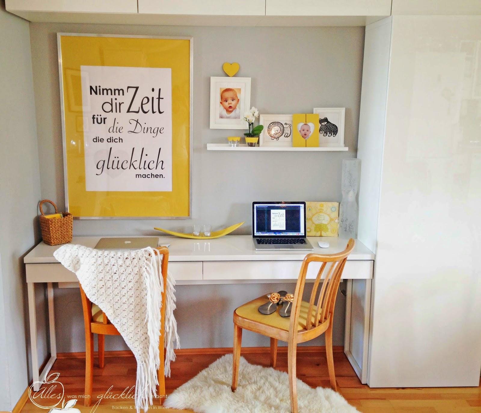 alles was mich gl cklich macht arbeitsplatz goes esszimmer senfgelb ist die neue farbe. Black Bedroom Furniture Sets. Home Design Ideas