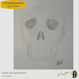 #Drawlloween Day 20 skull #Drawing #challenge