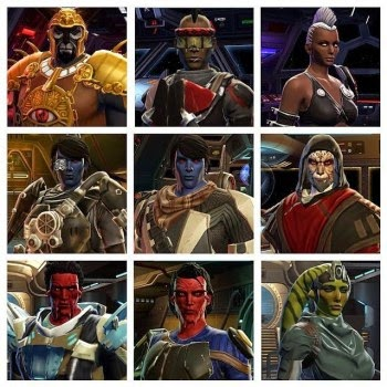 Customization's for all my Star Wars The Old Republic characters and companions.
