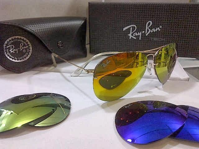 2d6fc8804b Kacamata Rayban Aviator 3 Lensa. warna gagang   fullblack