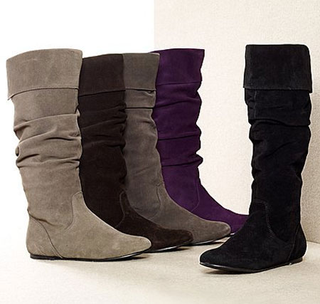 Suede Boots Purple3