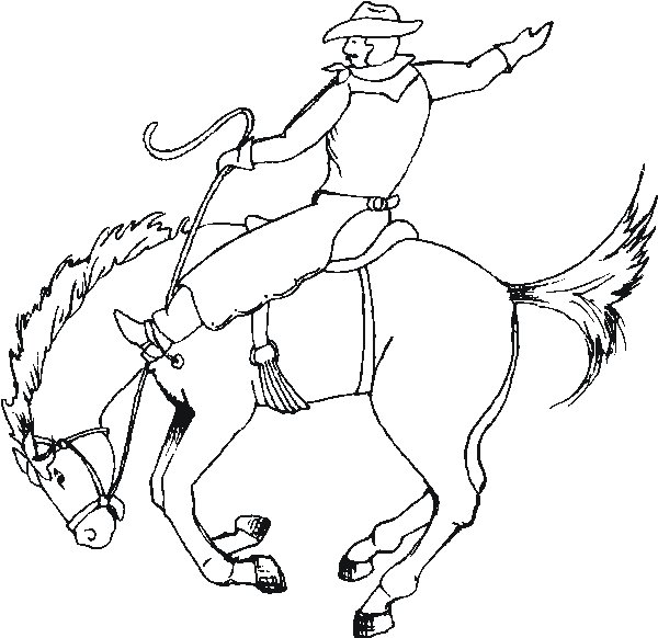 Cowboy coloring pages for kids - Coloring Pages