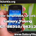 How to unroot/unbrick Samsung Galaxy Young (GT-S6310/GT-S6312)