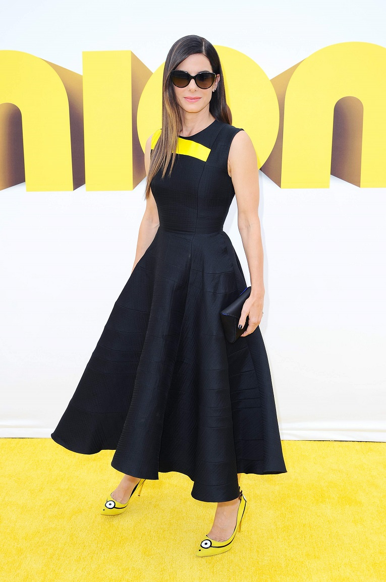 Sandra Bullock arrives at the Premiere of 'Minions' at the Shrine Auditorium in LA