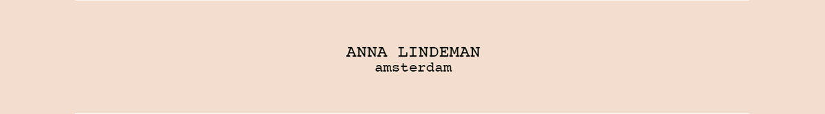 ANNA LINDEMAN amsterdam