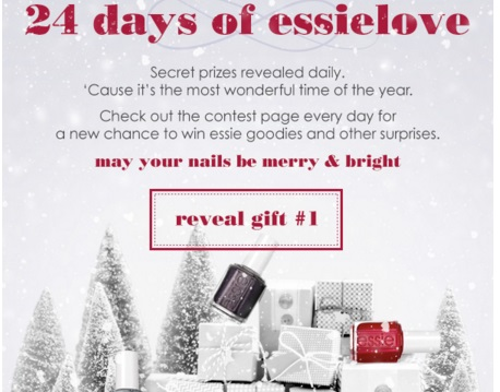 Essie 24 Days of Essie Love Christmas Giveaway