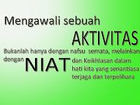 Kata-Kata Mutiara (Niat dan Aktivitas)