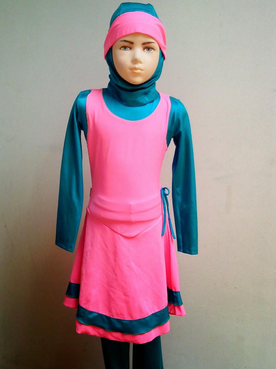 Baju renang muslimah anak modern