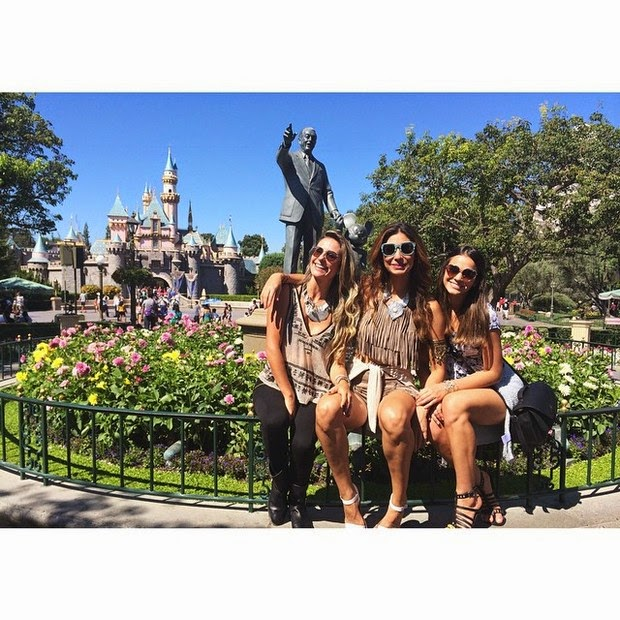 Bruna Marquezine with Stephannie Oliveira and girlfriend in park in Los Angeles, USA