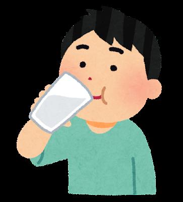 バリウムを飲む患者のイラスト