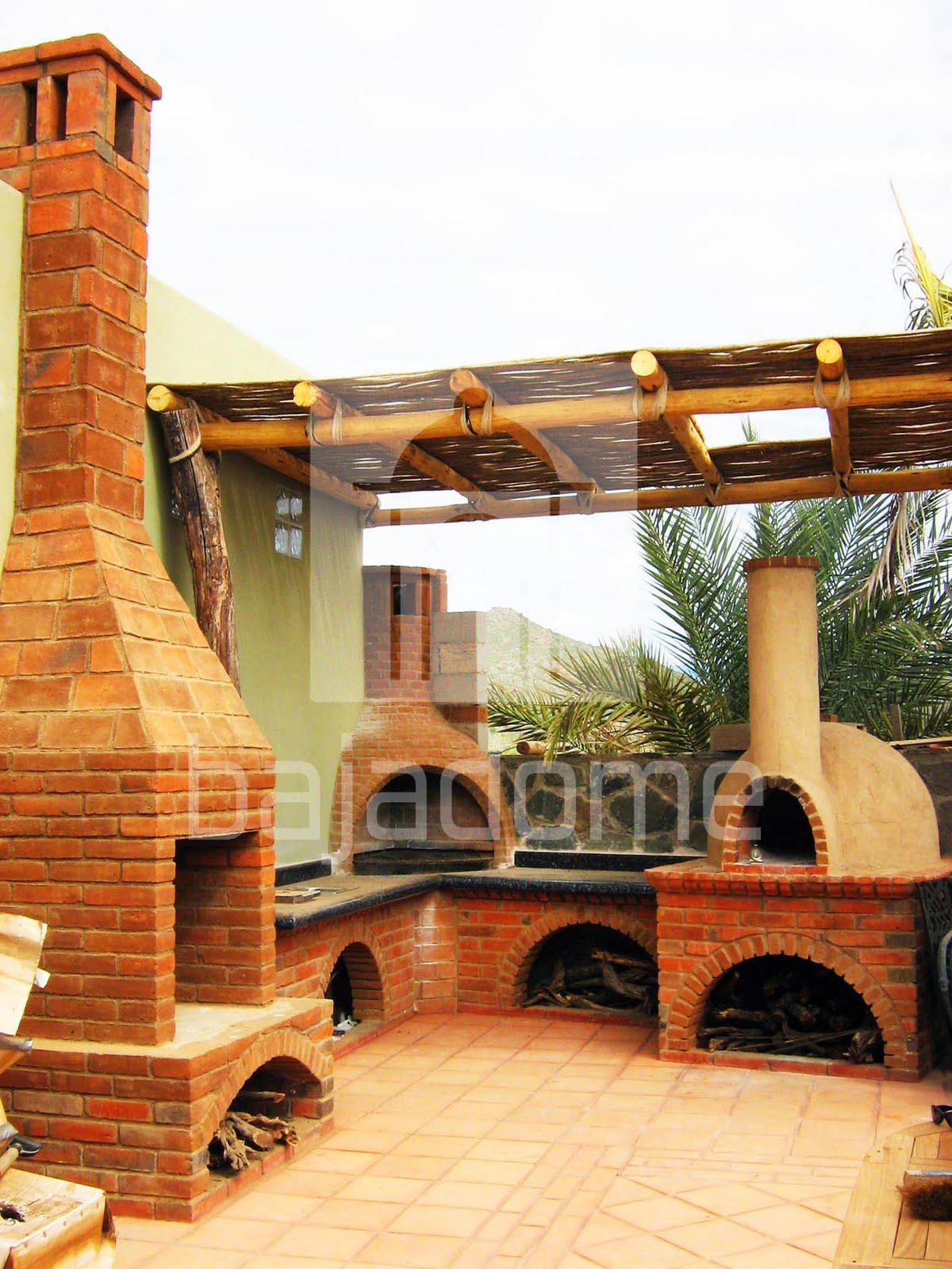Bajadome arte en el cielo asador pescadero for Construccion de chimeneas de ladrillo