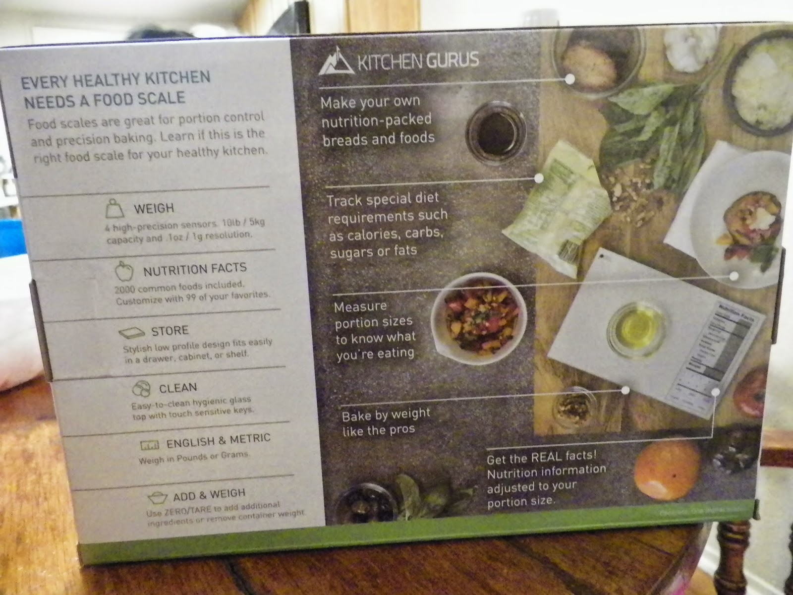 Perfect Portions Digital Scale Nutrition Facts Display By Kitchen Gurus Review