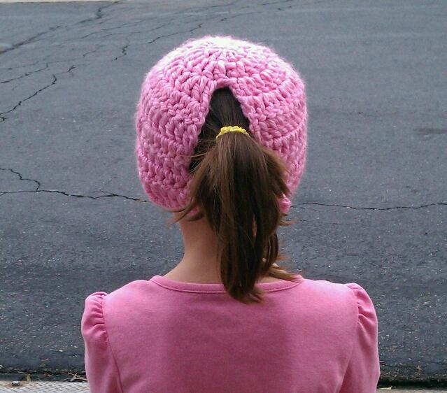 Free Ponytail Hat Pattern Warm Ponytail Hat Pattern