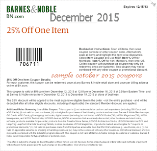 get verified barnes and noble coupons that work at couponcodescom