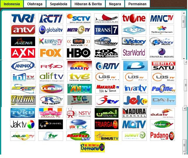 Nonton Siaran TV Online Indonesia yang terdiri dari 67 siaran