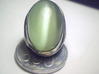 Batu Cincin Green Cat Eyes
