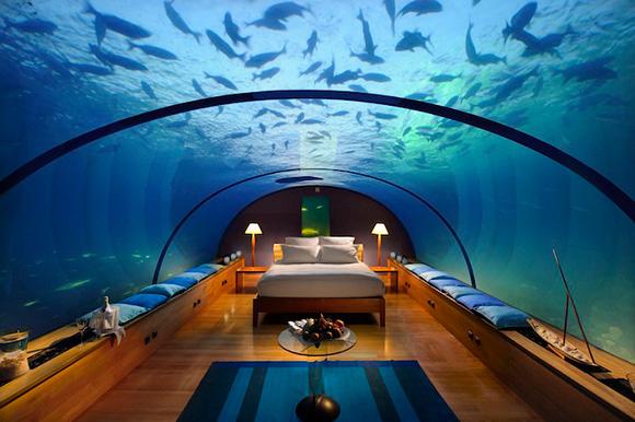Bilik+tidur+dalam+air+di+Maldives+1 Bilik tidur dalam air di Maldives