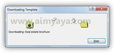 Gambar: Proses download template brosur real estate di microsoft word 2010