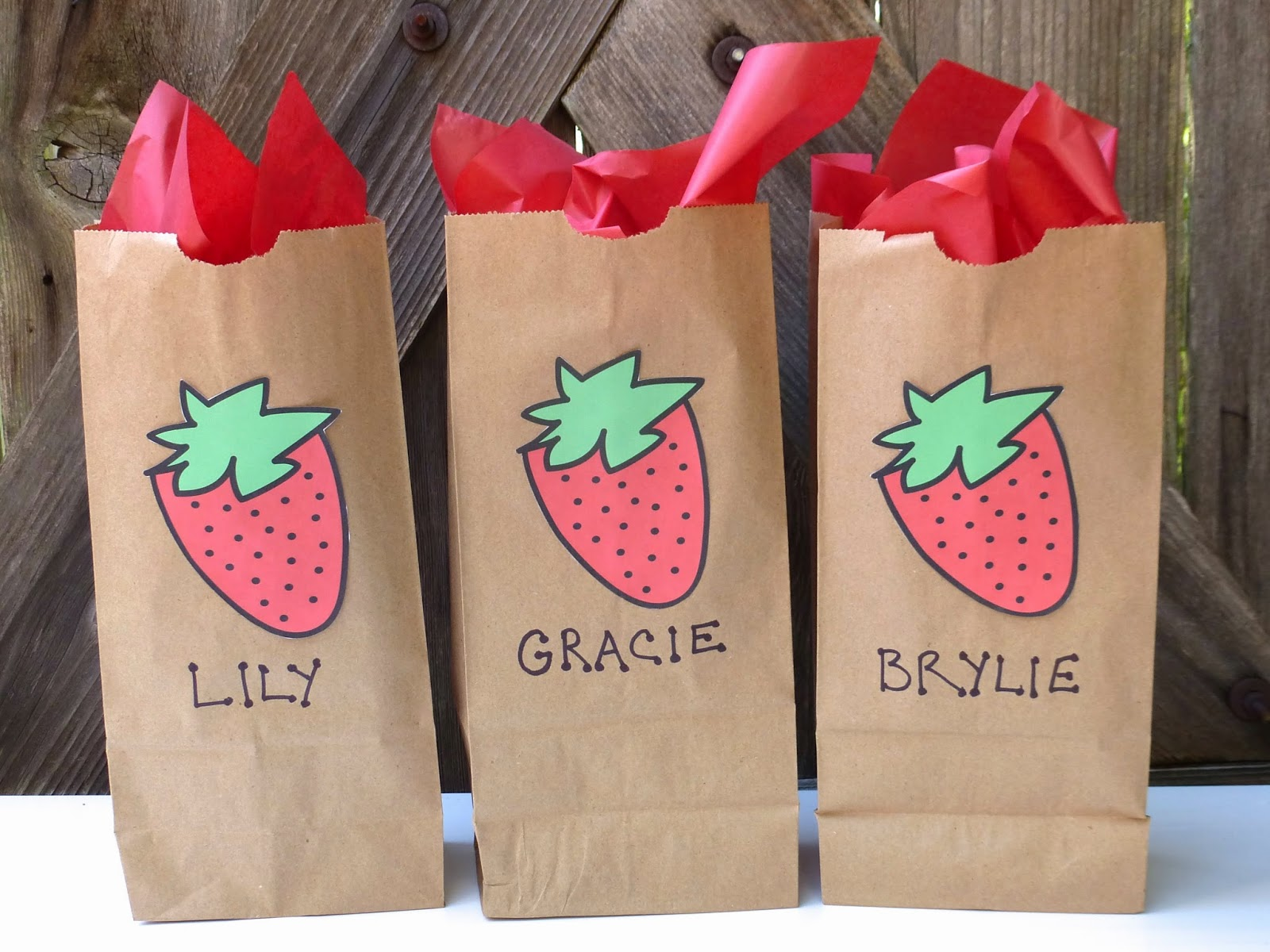 Strawberry Goody Bags